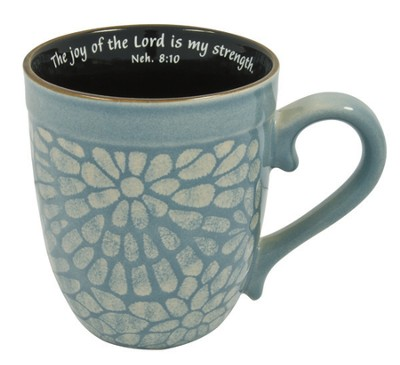 The Joy of the Lord Mug, Nehemiah 8:10, Blue  -