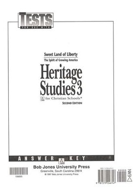 Heritage Studies 3, Tests Answer Key   -