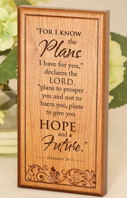 Jeremiah 29:11, Engraved Wood Plaque   -