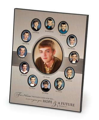 For I Know the Plans 12 Grade Photo Frame  -
