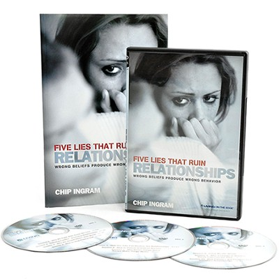 Five Lies That Ruin Relationships Personal Study Kit (1 DVD Set & 1 Study Guide)  -     By: Chip Ingram