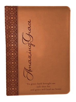 LuxLeather Folder, Amazing Grace, Tan  -