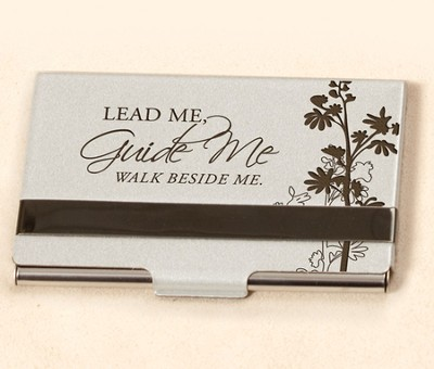 Business Card Holder, Lead Me, Guide Me  -