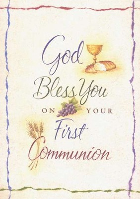 God Bless You; First Communion Cards; Package of 6   -