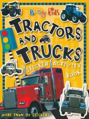Busy Kids Sticker Book Tractors Truck  -     By: Chris Scollen