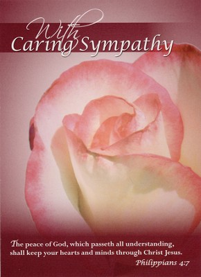 Roses Sympathy Cards, Box of 12  -