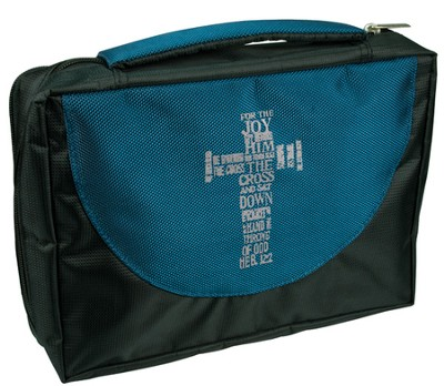 Cross Ballistic Bible Cover Organizer, Blue, Medium  -