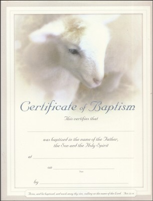 Certificate Of Baptism  -