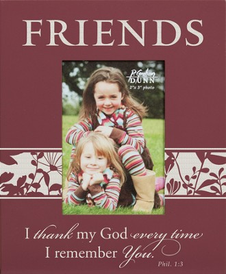 Friends, Philippians 1:3, Mini Photo Frame  -
