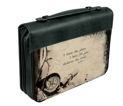 I Know the Plans Bible Cover, Black, Medium  -