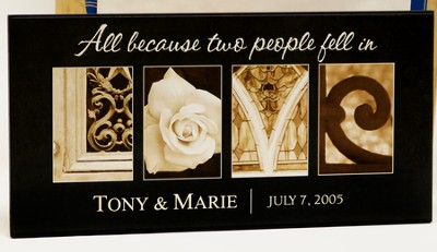 Personalized, Love Plaque, Long   -     By: Jennifer Blakeley