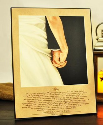 I Do, Personalized Wedding Print  -     By: Bonnie Mohr