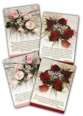 Roses and Lace Wedding Cards, Box of 12  -