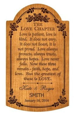 Love Chapter Plaque, Personalized   -