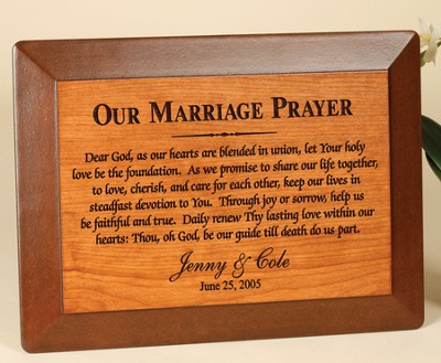 Personalized, Our Marriage Prayer Plaque   -