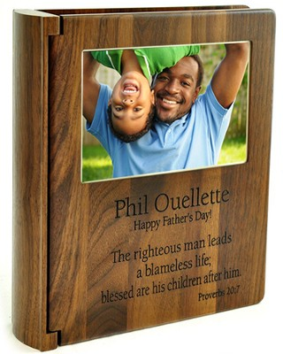 Personalized, Walnut Photo Album, Righteous Man   -