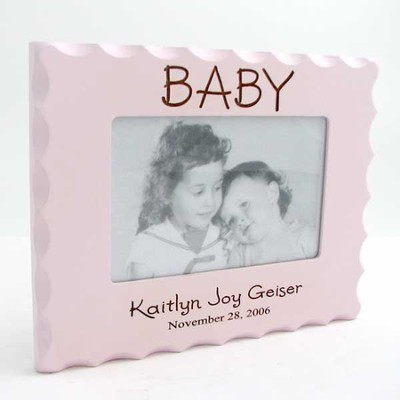 Personalized, Baby Photo Frame for 4X6, Pink   -