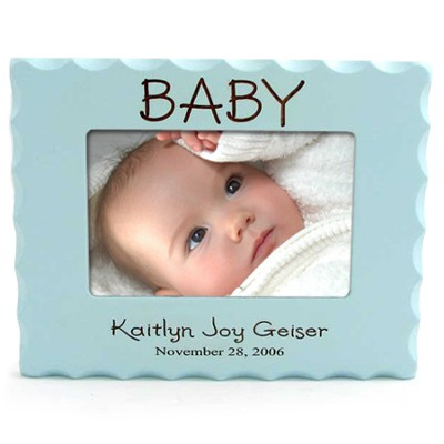 Personalized, Baby Photo Frame for 4X6, Blue   -