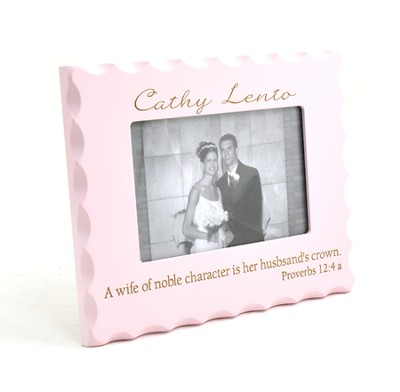 Personalized, A Wife of Noble Character Photo Frame, Pink   -
