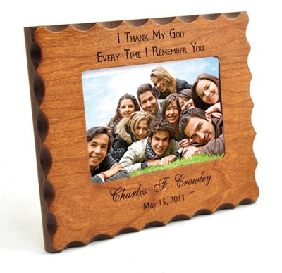 Personalized, Remembrance Natural Wood Photo Frame  -