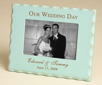 Personalized, Our Wedding Day Photo Frame -Blue        -