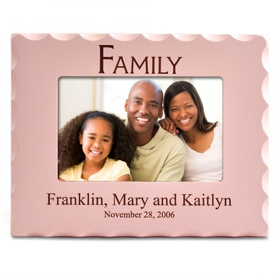 Personalized, Family Photo Frame for 4X6, Pink   -