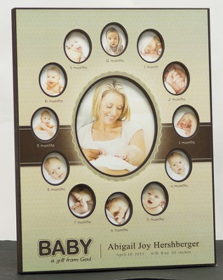 Personalized, Baby's First 12 Months Photo Frame   -