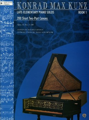 200 Short 2-Part Canons, Op. 14, Book 1 (Nos. 1-100)  -     By: Konrad Max Kunz