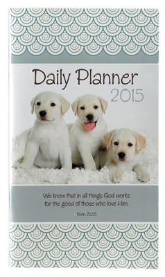 2015 Daily Pocket Planner, Puppies  -