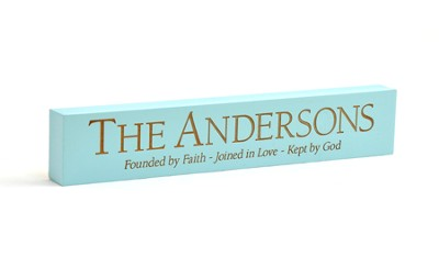 Personalized, Blue Desktop Plaque, Founded   -