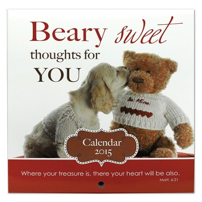 2015 Mini Wall Calendar, Beary Sweet  -