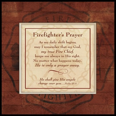 Firefighter's Prayer, Mounted Canvas Print   -
