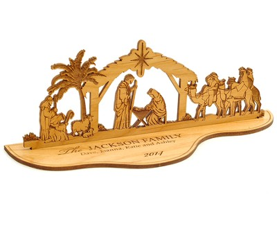 Personalized Tabletop Nativity Silhouette   -