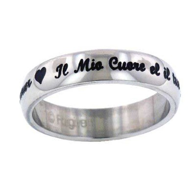 My Heart is Your Forever Ring, Italian, Size 6   -