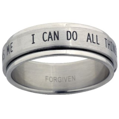 I Can Do All Things Spinner Ring, Size 11  -