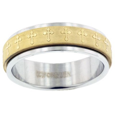Spinner Cross Ring, Size 9  -