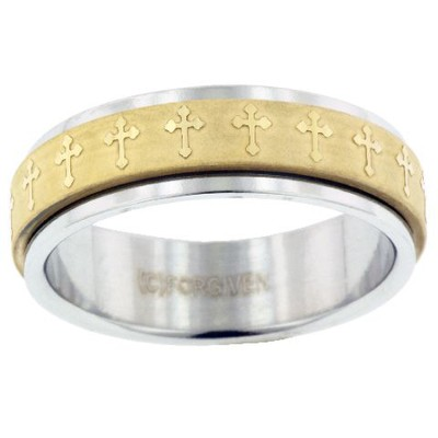 Spinner Cross Ring, Size 10  -