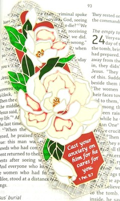 Suncatcher Bookmark and Magnet, Magnolias  -