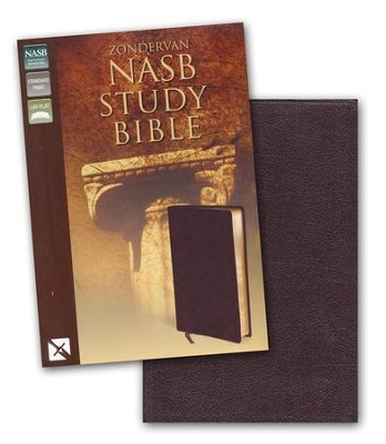 NAS Zondervan Study Bible, Bonded leather, Burgundy   -