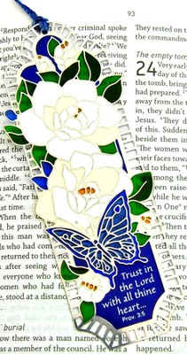 Suncatcher Bookmark and Magnet, Gardenias  -