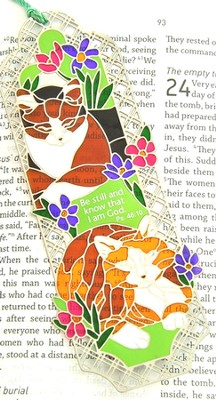 Suncatcher Bookmark and Magnet, Cats  -