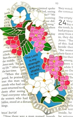 Suncatcher Bookmark and Magnet, Hummingbirds and Hydrangea  -