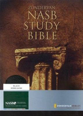 NAS Zondervan Study Bible, Bonded leather, Black, Thumb-indexed   -     Edited By: Kenneth Barker