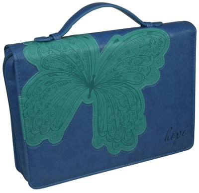 Hope Butterfly Cover, Blue and Green, Medium  -