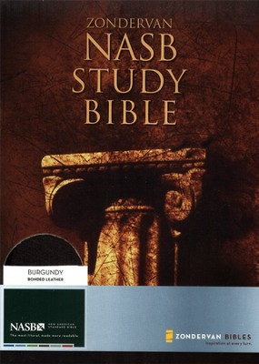 NAS Zondervan Study Bible, Bonded leather, Burgundy, Thumb-indexed   -     Edited By: Kenneth Barker