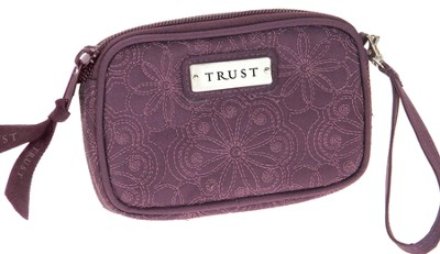 Embroidered Coin Purse Trust, Purple  -