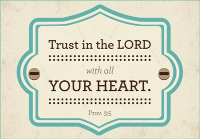 Trust in the Lord Wood Magnet  -