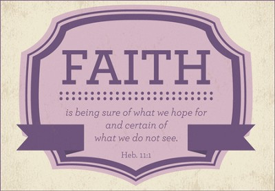 Faith Is Being Sure Wood Magnet  -