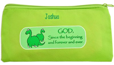 Personalized, God Since the Beginning Zippered Pencil  Case  -