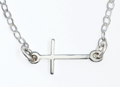 Horizontal Cross Necklace    -